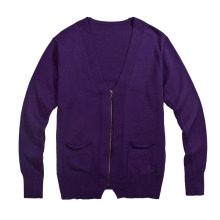 Fashion Pure Color Cardigan Knit Sweater for Men