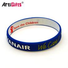 Fashionable customized rubber bracelets for men