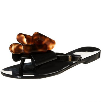 Flat PU Leather Women Slippers (HS17-079)
