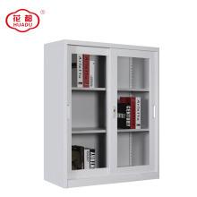 2018 sliding glass door steel wardrobe file cabinet