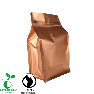 Food Ziplock Block Bottom Bpi Certified Factory en China