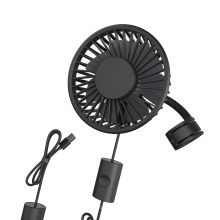 hot sale vehicle mini air conditioner rotating cooling car fan USB cooling fan silent