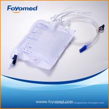 Boa qualidade 2000ml saco de urina de luxo com CE, certificação ISO