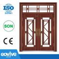 Puerta de seguridad de acero imitación cobre diseño