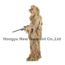 Militar camuflagem Ghillie terno Ghilly terno campo seco grama (hy-c003)