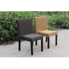 Chaise sans bras de corridor de meubles en osier extérieur