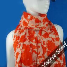 Naranja larga bufanda para dama