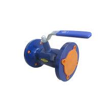 Válvula de bola soldada con bridas en hierro dúctil / hierro fundido