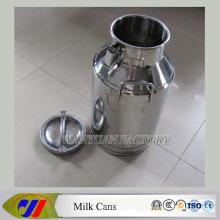 Latas de leche de acero inoxidable