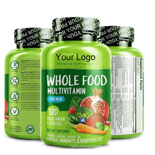 Amazon Hot Sale Whole Food Multivitamin Tablets for Men Health Supplement 120 Vegan Capsules