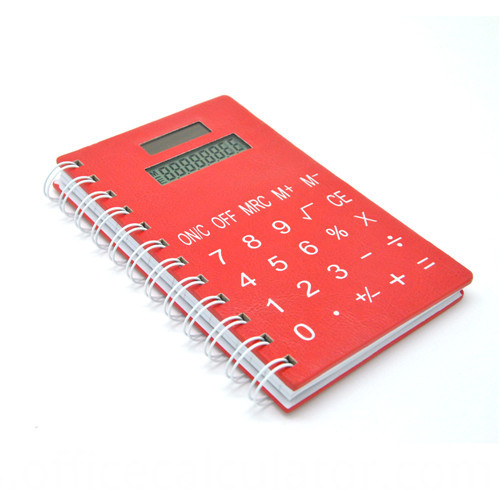 notebook with calculator