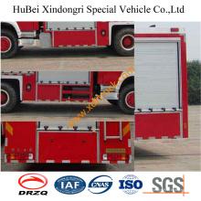 Camión de bomberos del agua de la espuma del polvo seco de 6ton HOWO Euro3