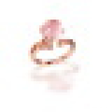 S925 Sterling Silver Round Cut Natural Rose Quartz Citrine Pave Ring for Women Birthstone Fine Jewelry Size Adjustable