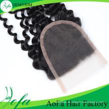 100% natürliche verworrene lockige Menschenhaarverlängerung / brasilianische reine Haarverlängerung / Menschenhaar