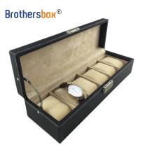 OEM custom leather 6 / 8 / 10 / 12 / 20 / 24 / 30 / 36 slot watch organizer box