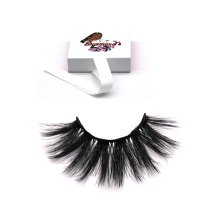 DL034 Hitomi custom eyelash box top quality silk eyelashes double layer private label 25mm silk eyelashes