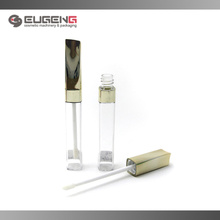 Goldkappe quadratischer leerer Lippenglanzbehälter