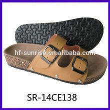 New arrival-Ladies confortable two straps upper blow cork sole slipper girl fashion cork slipper