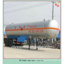 40.5cbm bulk lpg tank semi trailer
