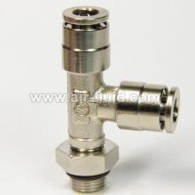 BSPP поток поворотные выполнения тройник металлический Push в фитинги пневматические