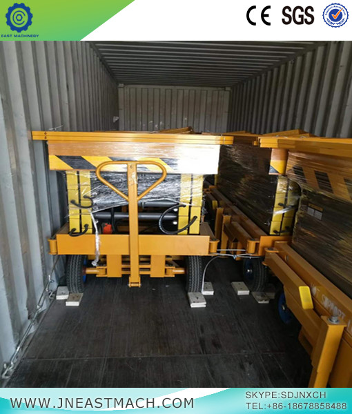16m 500kg Ce And Iso Mobile Shear Fork Lift Platform