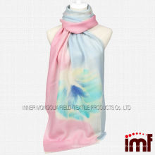 Women's Lively Dandelion Hand Painted Mercerize Wool Scarf