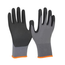 High Flex 15G Nylon Spandex Ultimate Grip Nitrile Work Gloves With Sandy Finished Palm