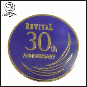 Round hard enamel metal badge