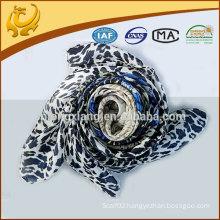 custom design leopard printed square satin scarf