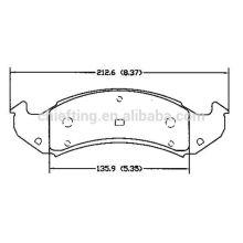 D505 12510001 pour Buick Chevrolet Pontiac Cadillac Oldsmobile pièces de frein plaquette de frein