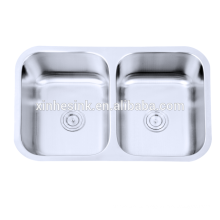 Stainless Steel 304 Double Bowl Kitchen Commercial Sinks