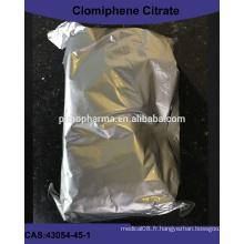 Bon prix Poudre de citrate de clomiphène de l'usine 43054-45-1
