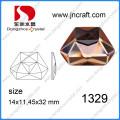 Flache Abck Kristall Unregelmäßige 11X14mm Kristall Strasssteine für Dekorationen