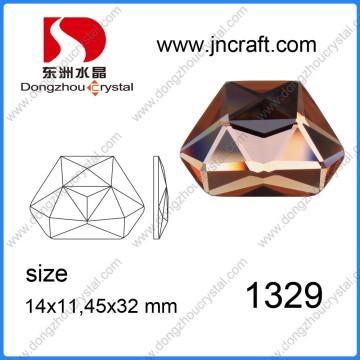 Flat Abck Crystal Irrégulier 11X14mm Crystal Rhinestones for Decorations