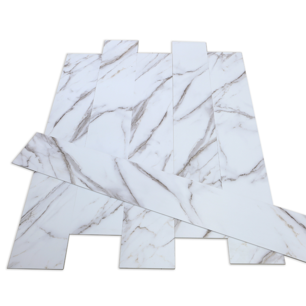 White Marble Grain SPC Flooring
