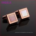 Мода розовое золото Плакировкой Запонки квадрат раковина мужская L52303