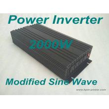 Inversor de energía de onda sinusoidal modificada de 2000 vatios / DC a inversores de CA