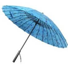 Parapluie droit manuel à impression manuelle à fleur (BD-65)