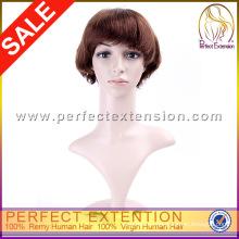 Nuevo estilo Tina Turner pelucas del pelo humano puro Rubio fresa