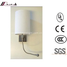 Modern Hotel Decorative Aluminum Bedside Reading LED Wall Light