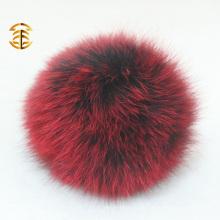 2017 Großhandel bunten keychain Fuchs Ball Pelz Pom Poms für Tasche