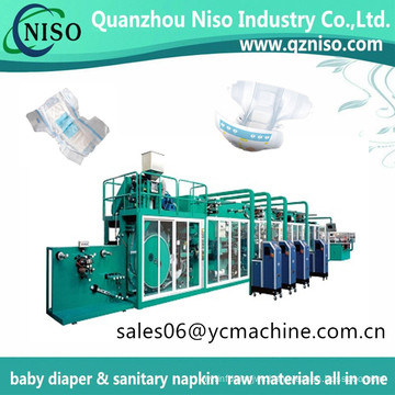 Semi Automatic Baby Nappy Machinery of Overnight & Nighttime Ultra Fit Baby Diaper