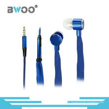 Écouteur intra-auriculaires stéréo de casque de Handfree de 3.5mm de lacet universel