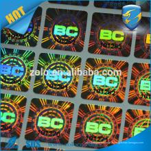 Anti-tamper genuíno adesivo adesivo adesivo adesivo de selagem de vinil destrutível
