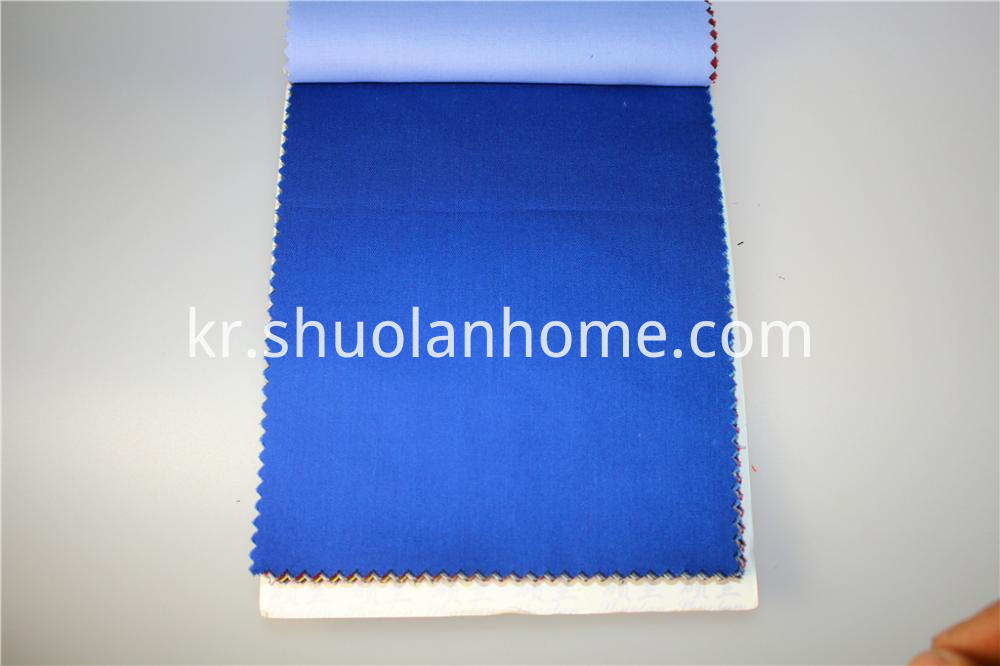 Polyester Cotton Blue Fabric