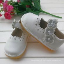 Sliver Flower White Children Chaussures fille Chaussures douces