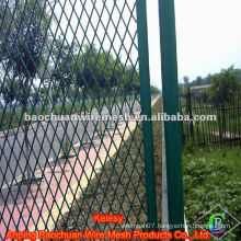 High quality green powder coated road protection steel nets
