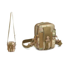 3 Way Tactical Waist Chest Bag,Survival Tactical Molle Pouch EDC Belt Waist Bag with Holster Holder