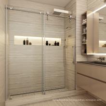 Seawin Bathroom Glass Shower Room Door rolling Wheels Single Sliding Shower Door