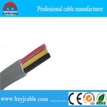 Grey Jacket 3 Cores Flat Sliod Cobre Cable 3 * 1.5mm2